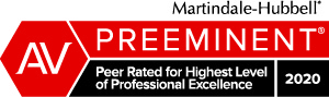 Martindale-Hubble AV Preeminent 2020 badge